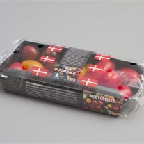 tomatoes - cardboard tray with flowpack film
